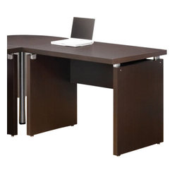 """Coaster - Desk (Cappuccino) By Coaster - Clean lines. Silver accent hardware. 39.25 """" W x 27.5 """" D x 30.75"""" H."""