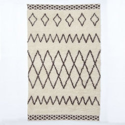 Kasbah Wool Rug, Ivory - Looking for neutrals with a spin? This West Elm rug falls under the tribal print category in an unexpected way.