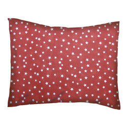 SheetWorld - SheetWorld Twin Pillow Case - Percale Pillow Cases-Cloudy Stars Rust - Twin pillow cases. Made of an all cotton percale fabric. Features a beautiful Cloudy Stars Rust print. (matching sheets available on 'buy baby sheets' page).