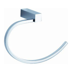 "Fresca - Fresca Ottimo Towel Ring - Chrome - Dimensions:  2.5""W x 5.5""D x 8.25""H. Heavy Duty Brass with Triple Chrome Finish.   All of our Fresca bathroom accessories are made with brass with a triple chrome finish and have been chosen to compliment our other line of products including our vanities, faucets, shower panels and toilets.  They are imported and selected for their modern, cutting edge designs."