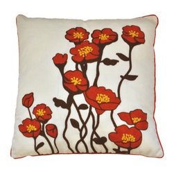 Urban Home Garden Grow Orange Pillow - Urban Home Signature Pillow. Made of High Quality Goose Down. Features a removable cover.