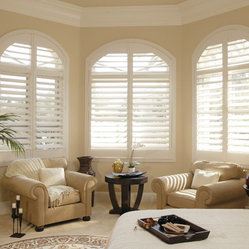 Wood Plantation Shutters With Clearview Technology