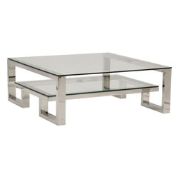 Imperial Cocktail Table - Contemporary, yet glamorous, the Imperial Cocktail Table defeats the odd with it's versatile design. The cocktail table can fill the room with divine design and create a look that is either ultra contemporary or modern transitional.