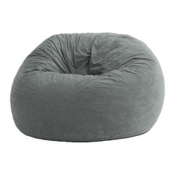 Comfort Research - Comfort Suede Steel Grey 4 Ft Large Fuf Chair - All it takes is one sit to understand exactly why our one-of-a-kind Fuf Collection has brought bean bags out of your grandparent's dusty basement and into college campuses, bedrooms and living rooms around the world. With all sorts of sizes and colors available, all perfectly filled with our patented memory foam, the hardest part about sitting down on any Fuf is convincing yourself it's time to get up. Please note this item requires an additional shipping timeline of 10-14 days.