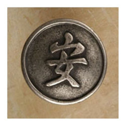 Anne At Home - Tranquility Knob (Set of 10) (Verdigris) - Finish: Verdigris. Hand cast and finished. Made in the USA. Pewter with brass insert. Collection: Asian. 1.75 in. L x 1.75 in. W x 1 in. H