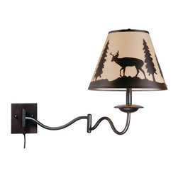 Vaxcel Lighting - Vaxcel Lighting WL55412 Bryce 1 Light Swing Arm Wall Sconce - Features: