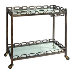 Uttermost - Uttermost Nicoline Iron Serving Cart - 24307 - -Uttermost's accent furniture combines premium quality materials with unique high-style design.