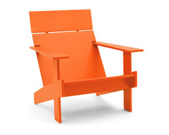 Loll Designs - Lollygagger Lounge Chair, Sunset Orange - Sometimes there's nothing wrong with letting the day get away from you. Grab a book and glide back into this breezy lounge chair. Its angled design nestles you in comfort, confirming that you're doing exactly the right thing.