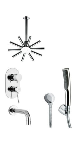Remer - Sleek Tub and Shower Faucet Set with Hand Shower - Single function tub and shower faucet.
