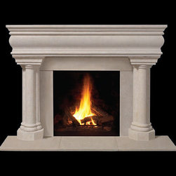 Beaumont Stone Fireplace Mantel - A classic stone fireplace mantel, the Beaumont is a beauty that captures the essence of natural stone. Lightweight and easy to install, it's an instant living room upgrade.