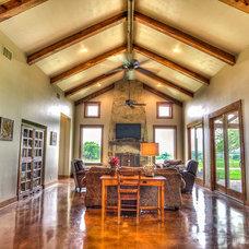 Craftsman Living Room by Carlos Barron Photography