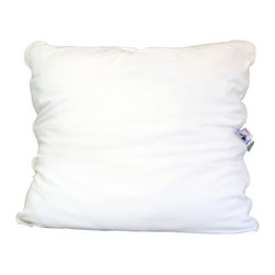 Malpaca - Malpaca Pillow, Natural White, Euro, Medium Fill - Created as a safe alternative to the normal bedding fabrics that contain fire retardants and insecticides, Malpaca Pillows are Certified Made in the USA of 100% natural alpaca fiber. Available in four sizes and three fill options, Malpaca Pillows offer the size and firmness options to provide the perfect sleep; whether you prefer the traditional softer, flatter pillow or the popular firmer contemporary option.