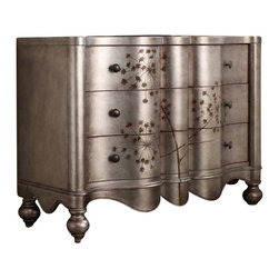 Hooker Furniture - Hooker Furniture Three Drawer Shaped Front Chest - Hooker Furniture - Chests - 516085001 - How do you give your home a personal touch and make it a reflection of your passions and personality? Get started by selecting a unique and original accent as an artistic expression of who you are. With hundreds of accent tables chests curios credenzas and desks to select from at Hooker Furniture you're sure to find one that delights you.