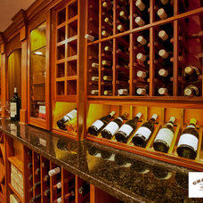 Traditional Wine Cellar by Charles River Wine Cellars