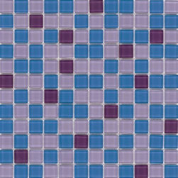 """Crayola - Decorative Glass Mosaics Pop Blue 12"""" x 12"""" - This collection is 's translation of all the vibrancy and happiness of the world now available in 18 blends and 42 solid colors. The 1'x1' glass mosaic sheets can be used for indoor and outdoor applications."""