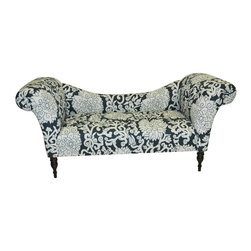 Skyline Furniture - Olivia Chaise Lounge - Floral Whimsy - 6006ATHNSBTRSWT - Shop for Chaises from Hayneedle.com! We're pretty sure if the Olivia Chaise Lounge - Floral Whimsy could walk it would win at limbo every time thanks to its lovely low-as-can-be swooping back. You'll love this chaise lounge's unique shape - two big arms taper off into a low low back that's made all the more lively thanks to the Greek-inspired floral print that's available in your choice of base colors. The wood frame features turned legs in the front and the 100% cotton upholstery is spot-clean only. Seat measures 20 inches from the floor.About Skyline Furniture Manufacturing Inc.Skyline Furniture was founded in 1948 with the goal of producing stylish affordable quality furniture for the home. After more than 50 years this family-run business is still designing and manufacturing unique products that meet the ever-changing demands of the modern home furnishing industry. Located in the south suburbs of Chicago the company produces a wide variety of innovative products for the home including chairs headboards benches and coffee tables.