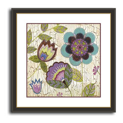 MonDeDe - Tribeca II - Floral meets geometric on this lovely, lively print. Its gorgeous colors and handicraft quality make it the perfect artistic accent for your decor.