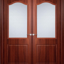 "Interior Double Door Italian Nutwood with Frosted Glass - SKU#    Capricheza-Glass-2Brand    BELWOODDOORSDoor Type    InteriorManufacturer Collection    Traditional European Interior DoorsDoor Model    Door Material    WoodWoodgrain    Italian NutwoodVeneer    Italian Nutwood High Pressure LaminatePrice    210Door Size Options    2(24"") x 80"" (4'-0"" x 6'-8"")  $02(30"") x 80"" (5'-0"" x 6'-8"")  $02(32"") x 80"" (5'-4"" x 6'-8"")  $02(36"") x 80"" (6'-0"" x 6'-8"")  $0Core Type    Swedish HoneycombDoor Style    TraditionalDoor Lite Style    Arch LiteDoor Panel Style    Home Style Matching    Plantation , Victorian , Bay and GableDoor Construction    Prehanging Options    Prehung , SlabPrehung Configuration    Double DoorDoor Thickness (Inches)    1.5625Glass Thickness (Inches)    1/4Glass Type    Single GlazedGlass Caming    Glass Features    Glass Style    Frosted, crystal style.Glass Texture    Glass Obscurity    Door Features    Door Approvals    Door Finishes    Prefinished; Italian nutwood high pressure laminate.Door Accessories    Weight (lbs)    680Crating Size    25"" (w)x 108"" (l)x 52"" (h)Lead Time    Prefinished Slab Doors: 7 daysPrefinished Prehung:14 daysWarranty    2 Year Limited Manufacturer WarrantyHere you can download warranty PDF document."