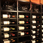 Wine cellar built with our metal wine shelves -