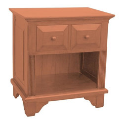 EuroLux Home - New Nightstand Pink Painted Hardwood - Product Details