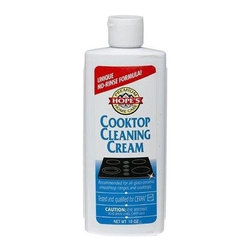 Hope - Hope Appliance Company Cooktop Cleaning Cream - 10 Oz - 6 Pack - Hopes Cooktop Cleaning Cream: Is great for all brands of glass ceramic cooktops. Safe, non-toxic Hopes Cooktop Cleaning Cream cleans, polishes and protects. Easily buffs off without rinsing. All prands like of glass-ceramic smoothtop ranges and cooktops. A special non-scratching cleaning cream recommended for all brands. . A unique acid free formula. Polishes to a like new shine. Non-scratching cream Mild. . Dimensions: 7.00 h x 2.00 w x 3.00 l. easy to use Alcohol-free . Gently removes burnt on deposits. No solvents. . 65 pounds. Cleans all brands of glass cooktops. 10 oz .