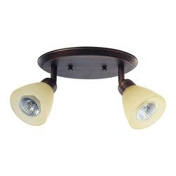 DVI LIghting - Dvi Lighting DVP9382ORB-WL 2 Light Track On Pan - DVI Lighting DVP9382ORB-WL 2 Light Track on Pan