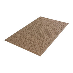 Bungalow Flooring - 36 in. L x 60 in. W Medium Brown Waterguard Ellipse Mat - Made to order. Ellipse design traps dirt, resists fading, rot and mildew. Indoor and outdoor use. 36 in. L x 60 in. W x 0.5 in. H