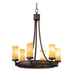 Kalco Lighting - Espille 6-Light Chandelier by Kalco Lighting - The Kalco simple design of the Espille 6-Light chandelier provides ambient lighting and is perfect for formal settings, yet understated enough for every day. Kalco features hand-forged wrought-iron designs in rich, hand-painted finishes that begin with premium iron stock heated in a fire pit and shaped with a hammer and anvil by artisans.