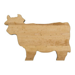 Cow Wood Board - It doesn't get any more American than the cow. This chopping board is made from maple in the USA.