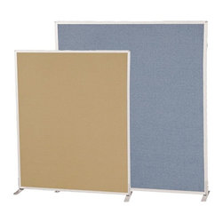 Best Rite - Best Rite Office Partition/Room Divider - 4W ft. - 66216-87 - Shop for Room Dividers from Hayneedle.com! The Best Rite Office Partition/Room Divider is a versatile multi-utility tool for the office. It's constructed with a lightweight honeycomb core and an anodized aluminum frame that makes it strong and durable. With multiple connector options customizing this divider makes a convenient tool for group activities or notifications. This versatile divider can be used as a notification board for team presentations or discussions or to demarcate a secluded area or cubical for a specific activity. You have the option of purchasing feet (sold separately) to use this as a free standing partition.