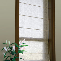 Clear Wiggle roman shade - Clear Wiggle can be used alone or with KOVA's Winter Ice or Golden Dawn for more privacy.   A fabric that is commercially manufactured but looks very hand crafted.