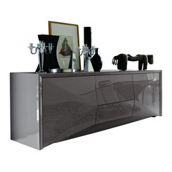 Rossetto - Sapphire Buffet - Sleek and stunning, this beautiful gray buffet is designed to tidy ...