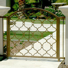 Modern Fencing by Colletti Design Iron Doors