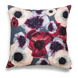 Mac Meckley - Anemone Aphrodite Pillow Case - Artwork is printed on Montgomery Linen