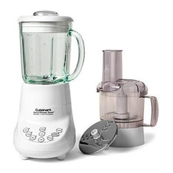 Cuisinart - Cuisinart Smart Power Duet Blender/Food Processor Combination - This convenient machine combines two kitchen appliances in one. Plus, the simple electronic touchpad controls make operation easy and cleanup a breeze.