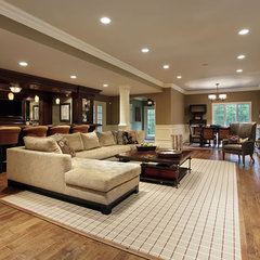 basement by Meeder Design & Remodeling
