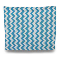 Zeckos - Turquoise Blue / White Chevron Print 50 in. x 60 in. Fleece Throw Blanket - This 50 inch by 60 inch fleece throw blanket adds a wonderful splash of color to your bedroom, living room or den, and helps keep you warm on chilly nights. The 100% polyester blanket had double sewn edges on all four sides, and has a wonderfully tight weave, to keep you toasty warm.