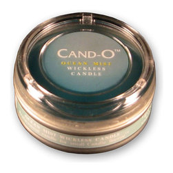 None - Cand-O Ocean Mist Small Wickless Candle - Candles from Cand-O are designed for Candle Breeze and Candle Aire electric candle warmersLong-lasting scented candle is wickless and flamelessSmall candle comes in an ocean mist scent