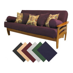 EpicFurnishings - Premium Full-size Upholstery Grade Twill Futon Cover - Protect your futon with this removable full-size futon cover,which comes in a variety of colors to match your room. The heavy-duty cover is machine-washable,making cleanup a snap,and it protects your futon from dirt,grime,and small bugs.