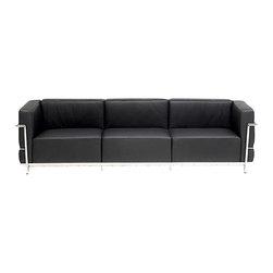 Fine Mod Imports - Grand Le Corbusier Leather Sofa - Features: