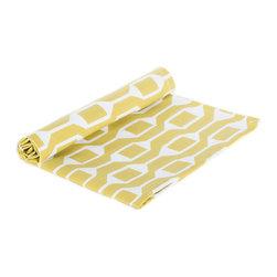 "BH decor - Organic Mustard Yellow & White Table Linen Napkins ( SET OF 4 ) - - 20"" square"
