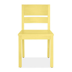 Afton Yellow Chairs - Chairs - Dining Spaces - Room & Board - For some reason these sunny dining chairs remind me of elementary school, and I mean that in a good way. They are sure to  brighten up any eat-in kitchen.