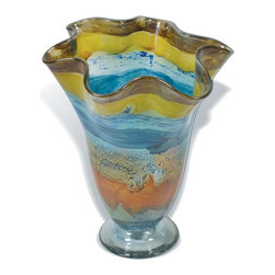 Mathews & Company - Wild Flower Ruffle Glass Vase - Our overview of the new Wild Flower Ruffle Glass Vase is on its way but you can still purchase this wonderful piece for your living quarters today. If you have questions about the product just drop a line or send us an email!