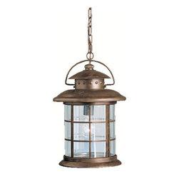 Kichler - Kichler 9870RST 1 Light Outdoor Pendant from the Rustic Collection - Kichler 9870 Rustic Outdoor Pendant