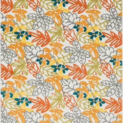 "Loloi Rugs - Loloi Rugs Oasis Collection - Orange / Multi, 7'-10"" x 10'-9"" - Boldly designed and brightly colored, our Oasis Collection transforms any outdoor space into a modern patio paradise. This collection is power loomed in Egypt, ensuring precision in color and design for each and every piece. And because the 100% polypropylene yarns are specially tested to withstand UV rays and rain, it's the perfect all-weather rug."