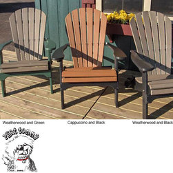 Phat Tommy - Forever Phat Tommy Two Tone Recycled Folding Adirondack Chair - Add some comfort and style to your deck or patio with this two-tone folding Adirondack chair by Forever Phat. Featuring thick recycled poly and contoured seats, this outdoor chair is comfortable and easy to store during the off-season.