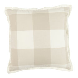 "MysticHome - Crossings Sand 18"" Pillow by MysticHome - The Crossings Sand, by MysticHome"