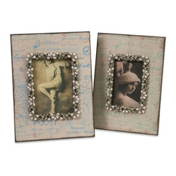 "IMAX CORPORATION - Ooh-La-La Photo Frames - Set of 2 - This set of two picture frames feature a classic French style with pearl beaded embellishments. Set of 2 in various sizes measuring around 14.00""L x 12.75""W x 12.00""H each. Shop home furnishings, decor, and accessories from Posh Urban Furnishings. Beautiful, stylish furniture and decor that will brighten your home instantly. Shop modern, traditional, vintage, and world designs."