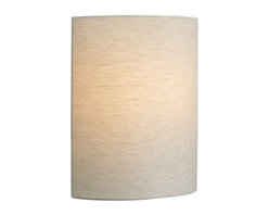 LBL Lighting - LBL Lighting Fiona Wall Linen LED 1 Light Wall Sconce - LBL Lighting Fiona Wall Linen LED 1 Light Wall SconceShowcasing a modern Linen fabric shade and metal base, this trendy pendant will add style to any d�cor. The included energy efficient 10 watt replaceable LED module creates the perfect ambient lighting.LBL Lighting Fiona Wall Linen LED Features: