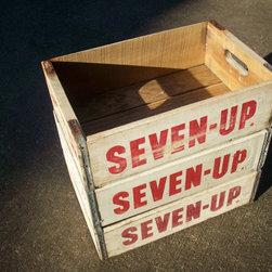 Vintage Wood Beverage Crates -
